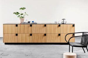 kitchen with doors