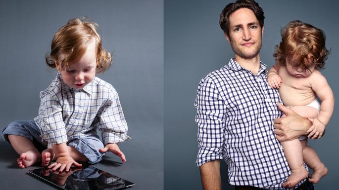 Adam Alter and his son, Sam